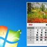 Tegyen látványos naptárakat windowsos asztalára