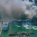 Két napja lángol egy amerikai hadihajó San Diegóban