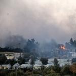 Leégett a leszboszi menekülttábor