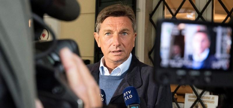 A szlovén elnök nyerte a választás első fordulóját