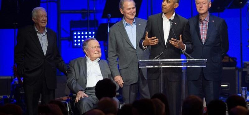 Öt volt amerikai elnök egy jó cél érdekében