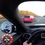 270-nel kergetőzik autópályán ez a BMW M3 Competition és Audi RS4 - videó