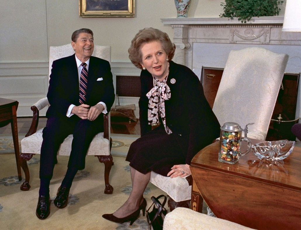 április 22.-ig! - 1985. február 20-án a washingtoni Fehér Házban készített kép Margaret Thatcher brit miniszterelnökről és Ronald Reagan amerikai elnökről. Margaret Thatcher Nagy-Britannia első női miniszterelnöke 2013. április 8-án, 87 éves korában ellhu