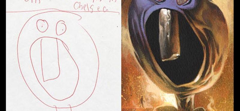 Hogy néznek ki a gyerekrajzok hiperrealisztikus változatai?