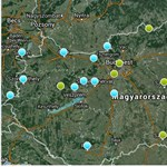 Egészségtelen a levegő három városban - térkép