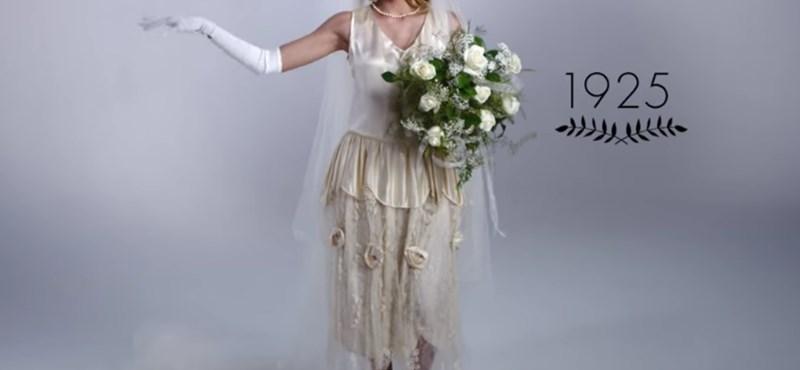 Videó: Így változott a menyasszonyi ruha egy évszázad alatt