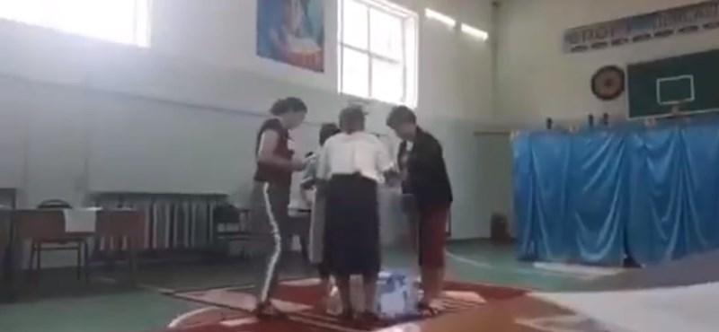 Elég vad videók terjednek a kazah választási csalásokról