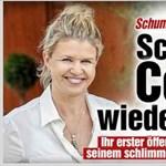 Schumacher felesége újra mosolyog