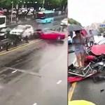 Éppen azt ragozta egy bérlő, mekkora dolog Ferrarit vezetni, majd összetörte a kocsit - videó
