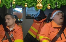 A nap videója: Két magyar mentős nagyon ráérzett a karácsonyi hangulatra