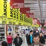 Vasárnapi boltzár: kilőtt az üzletek bevétele csütörtökön és pénteken