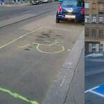 Megírtuk, hogy valaki csinált magának egy mozgássérült parkolóhelyet, erre már készült is egy hivatalos festés