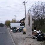 A rákosligeti lomtalanításon bukkant fel a belvárosból ismert szobor – fotó
