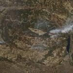 Az űrből is látni a csernobili atomerőmű közelében pusztító tüzet