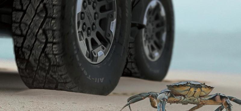 A rákjárást is tudni fogja az elektromos autóként visszatérő Hummer