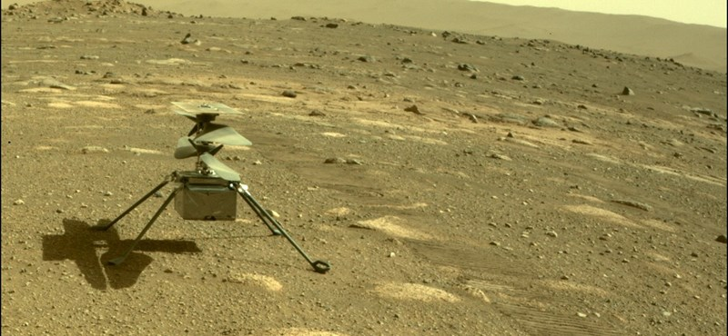 Itt az első fotó a Marsról, amit a NASA helikoptere készített