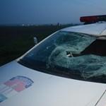 Ez a rendőrautó gázolt halálra egy embert - fotók