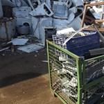 Románok működtettek illegális fémtelepet Érden - fotók