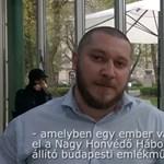 Egy csecsen férfi kereste meg a szovjet emlékművet megdobáló Komáromy Gergelyt - videó