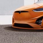 Nincs nagy gond a Tesla külsejével, de így, ültetve, narancsszínben azért nagyon üt
