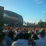 Balhé az Újpest-Fradi meccs után - szurkolók randalíroztak a Váci úton