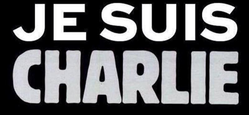 "Innen ered a ""Charlie vagyok"" logó"