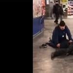 Biztonsági őrök fogták le az eszméletlen részeg BKV-ellenőrt - videó