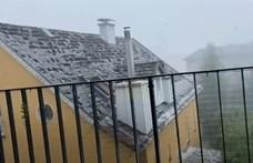 Teniszlabda nagyságú jég pusztított Ausztriában