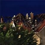 Égett egy családi ház teteje Pomázon