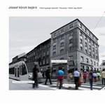 A jövő Budapestje: napvitorla a Corvin közben