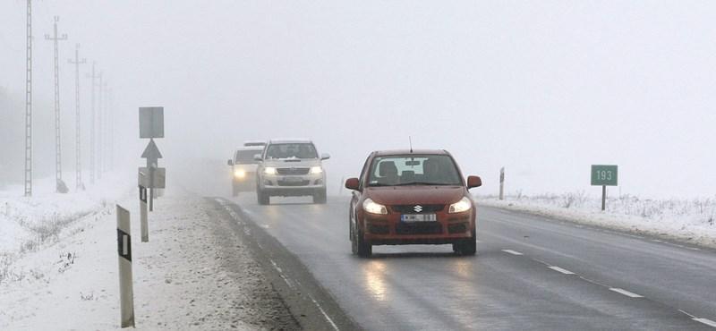 Köd, hideg, hó: ez vár ránk a hétvégén