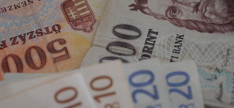 Már 329 forintba kerül egy euró