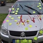 Fotó: Csúnyán elbántak ezzel a Suzukival Győrben, állítólag fiatal lányok tették