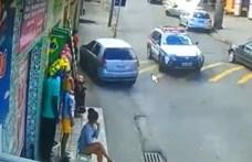 Veszélyes és látványos manőverrel menekült egy autós a rendőrök elől – videó