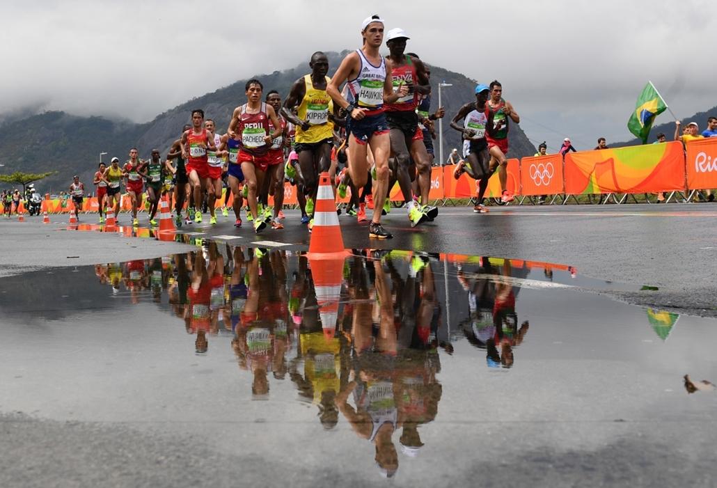 afp.16.08.21. - Versenyzők a férfi maratonon augusztus 21-én. - olimpia, riói olimpia 2016, olimpia 2016