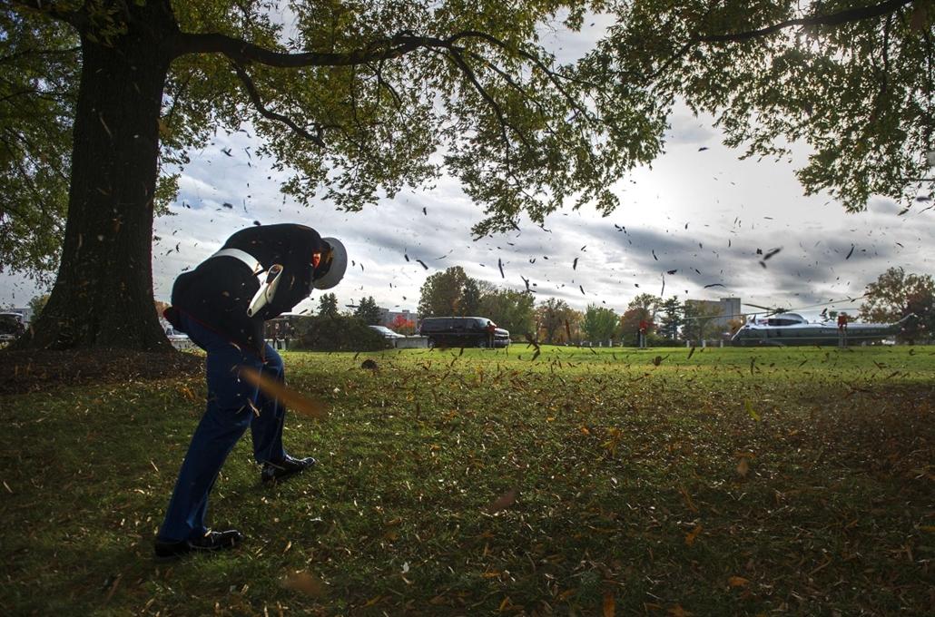 afp. szél, szeles, időjárás, nagyítás - Bethesda, Egyesült Államok  2013.11.05. Marine One