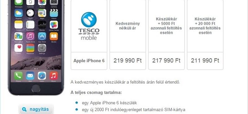 A magyar Tescóban is megvehető az iPhone 6