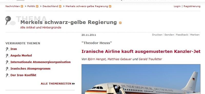Kínos német repülőgépügyletről ír a Spiegel