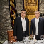 Egyet találgathat, ki járt még Orbán és a kínai miniszterelnök előtt az Alabárdos étteremben!
