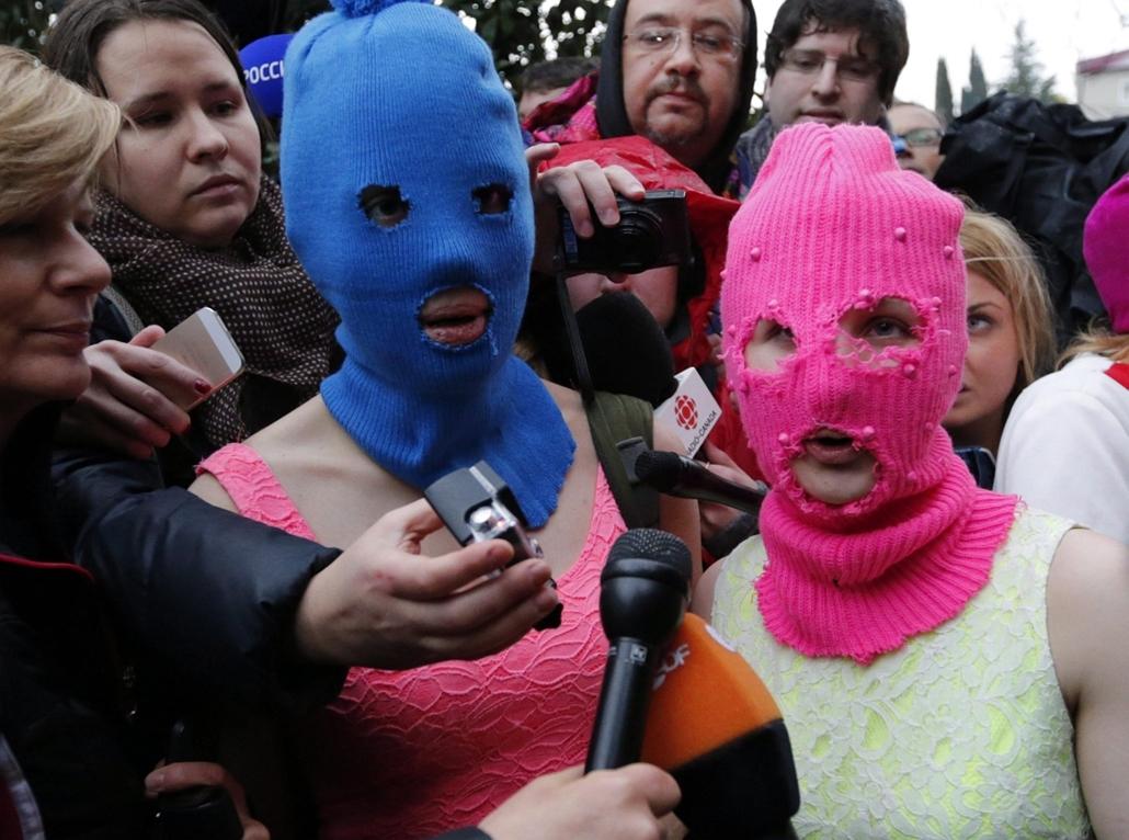 epa. hét képei - Pussy Riot 2014.02.18.Szocsi