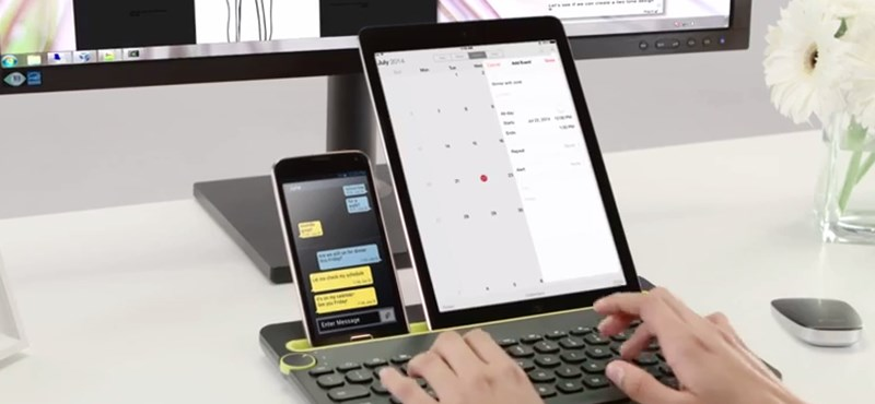 Egy billentyűzetet használhat egyszerre telefonjához, táblagépéhez, komputeréhez