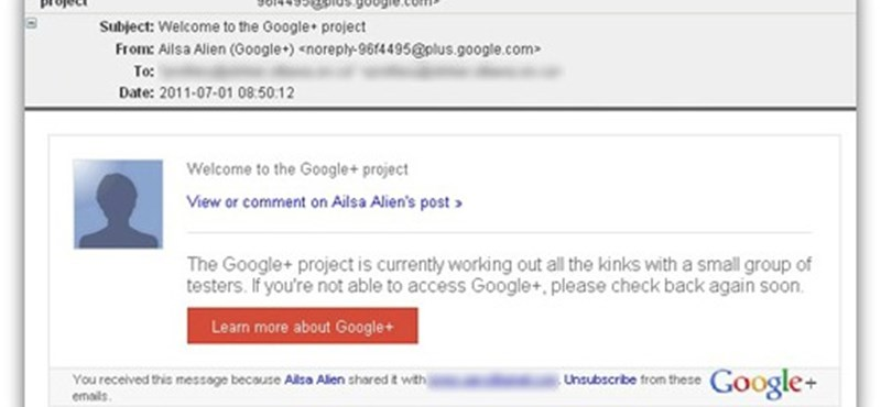 Hamis Google+ meghívóval próbálkoznak a spammerek