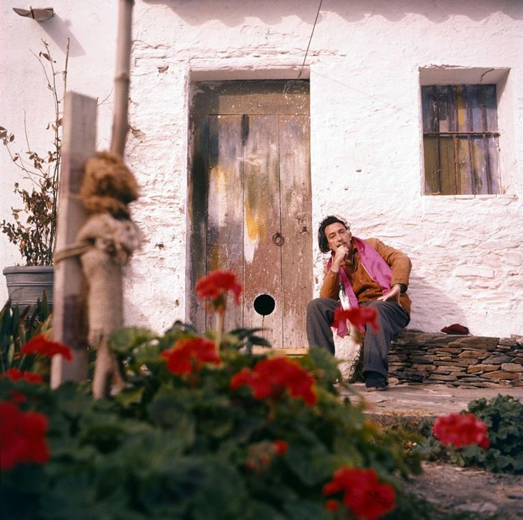 afp. nagyítás - Salvador Dali 110 éve született - 2013.04.16. Portrait de Salvador Dali dans sa propriété de Port Lligat dans les années 1960