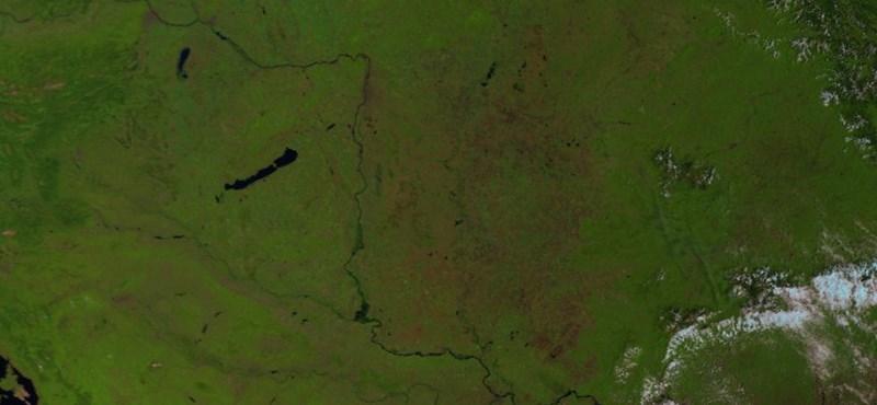 Nem látni felhőt Magyarország felett – kánikulai űrfotó