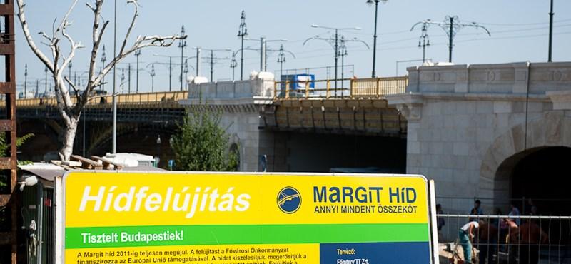 268 millióba kerül a Margit híd műemléki helyreállítása