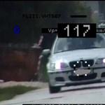 50 helyett 117-tel repesztett a Környén lefotózott BMW-s