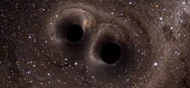 5 milliárd évvel ezelőtt ütköző fekete lyukakat észleltek