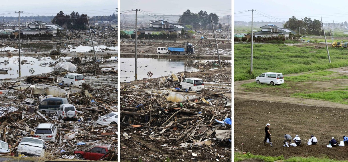Japán: a helyreállítás szakaszai előtte-utána képeken - Nagyítás-fotógaléria