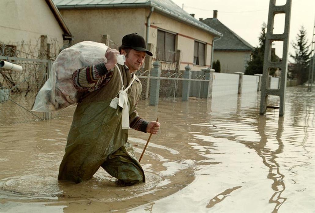 Árvíz a Tiszán 2001. tavaszán.