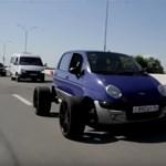 Végletes tuning egy Daewoo Matiz 20 colos alufelniken – videó